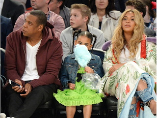 Jay Z Blue And Beyonce At NBA All Star Weekend