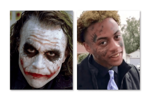 Boonk Gang White Joker Tattoos