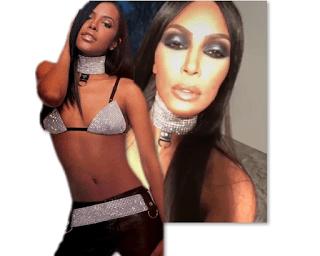 Kim Kardashian Aaliyah Costume