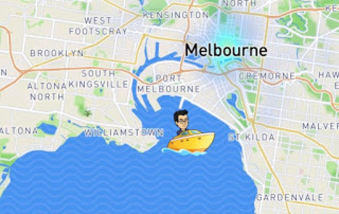 Snap Map Actionmoji Boat