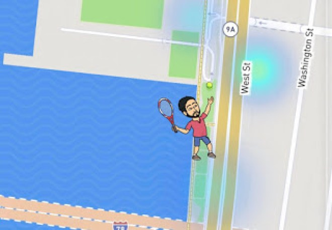 Snap Map Actionmoji Tennis