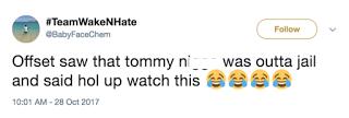 Cardi B Offset Tommy Tweet