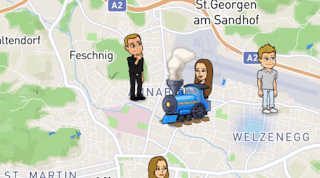 Snap Map Actionmoji Train
