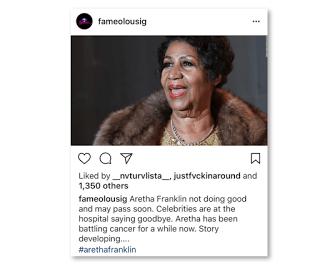 Is Aretha Franklin Sick? Hospitalized?