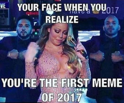 Mariah Carey New Years Meme 2017