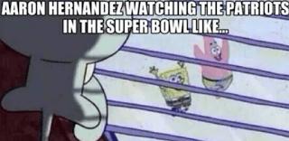 Aaron Hernandez Super Bowl Meme