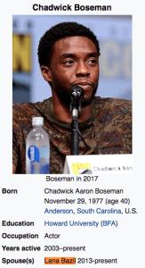Chadwick Boseman Lana Bazil
