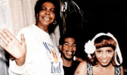 Craig Mack With His Mother And Wife, Roxanne