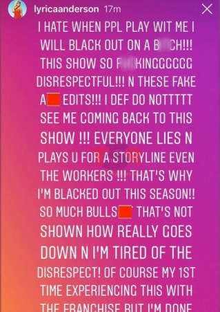 Lyrica Anderson Quits Love And Hip Hop Hollywood