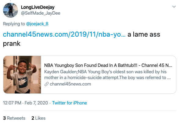 NBA YoungBoy Son Draco Dead?