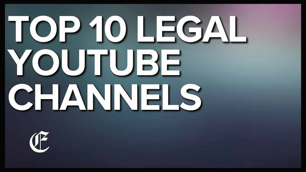 Top Legal YouTube Channels