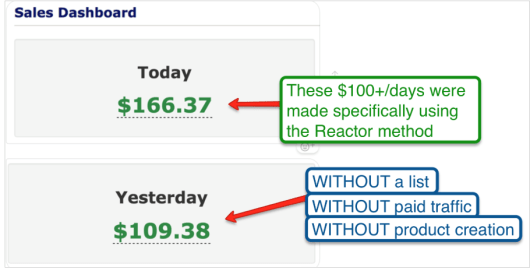 """Reactor Review - """"React"""" Your Way to $120+/day within 24 hours - more proof"""