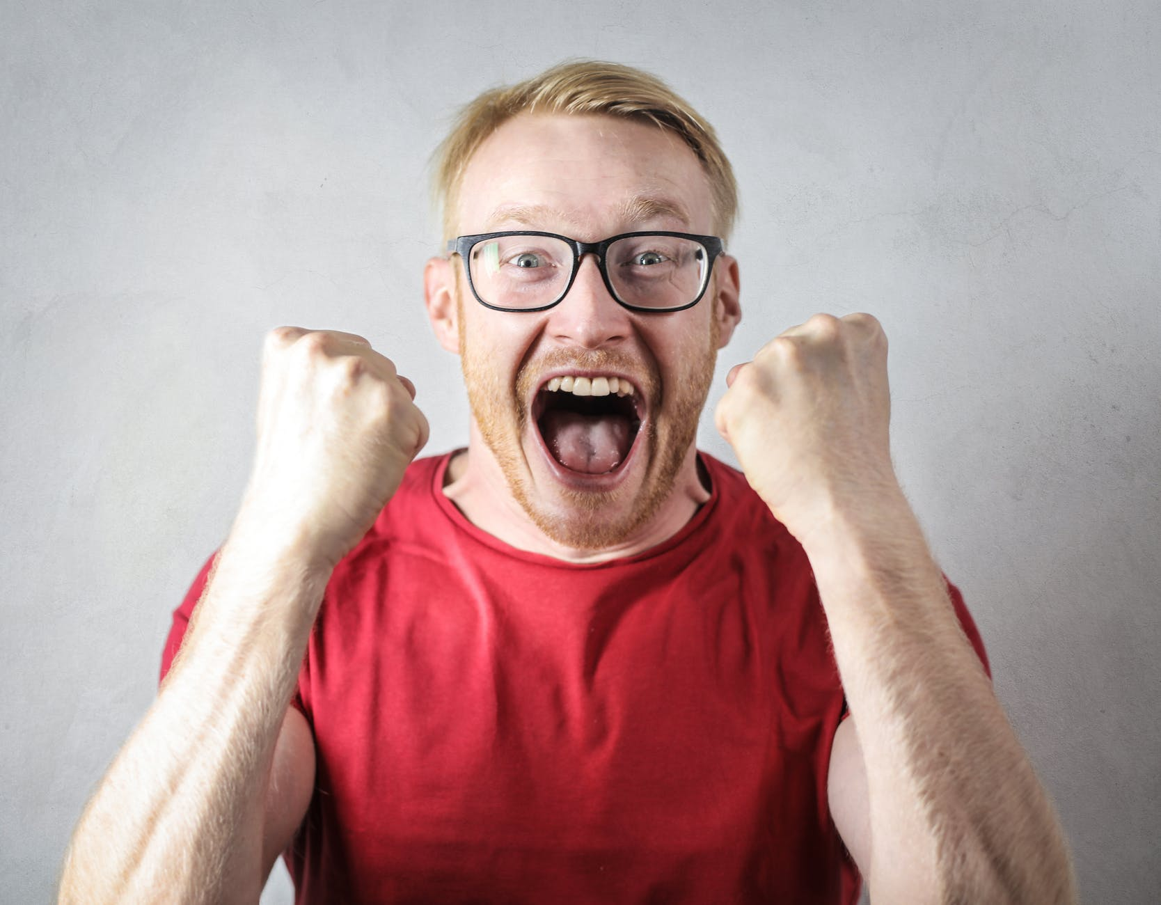 angry man is screaming