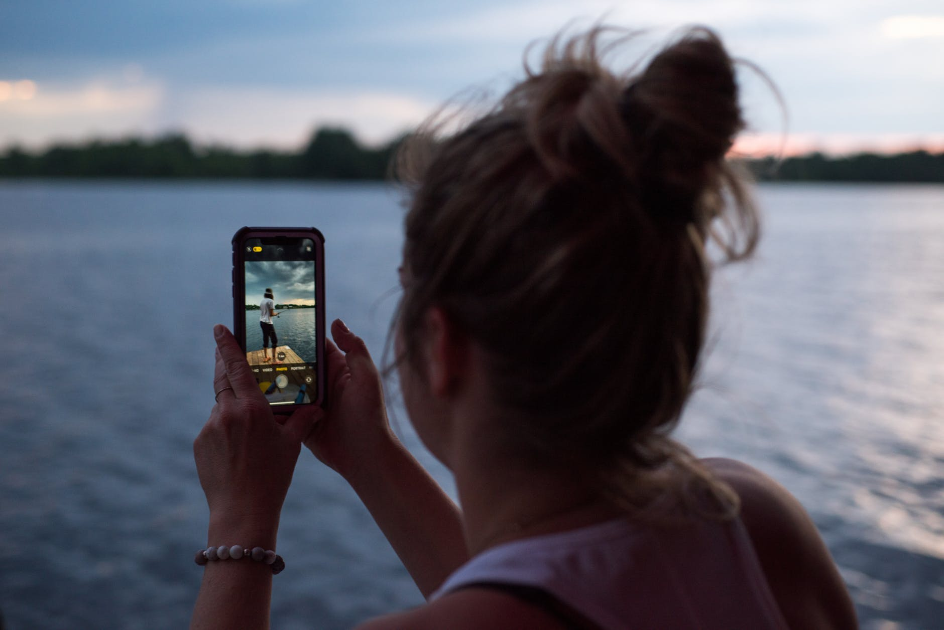 landscape sunset people woman