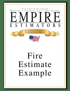 Xactimate Estimate Fire Sample
