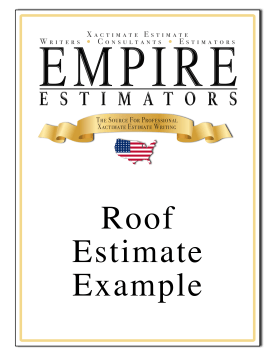 Xactimate Estimate Roof Sample
