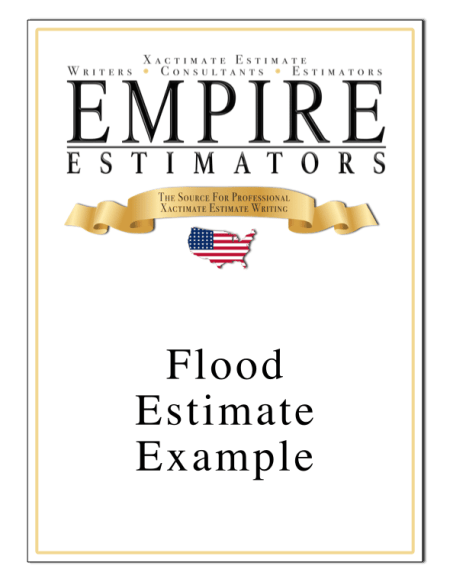Flood Repair Estimate