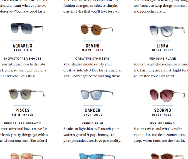 Empire Opticals Eyeglasses Horoscope Find Your Style In The Stars