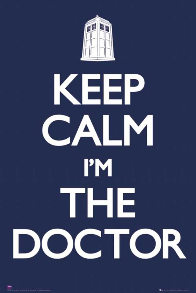 Keep Calm Doctor Who Blue Poster 61x91 5