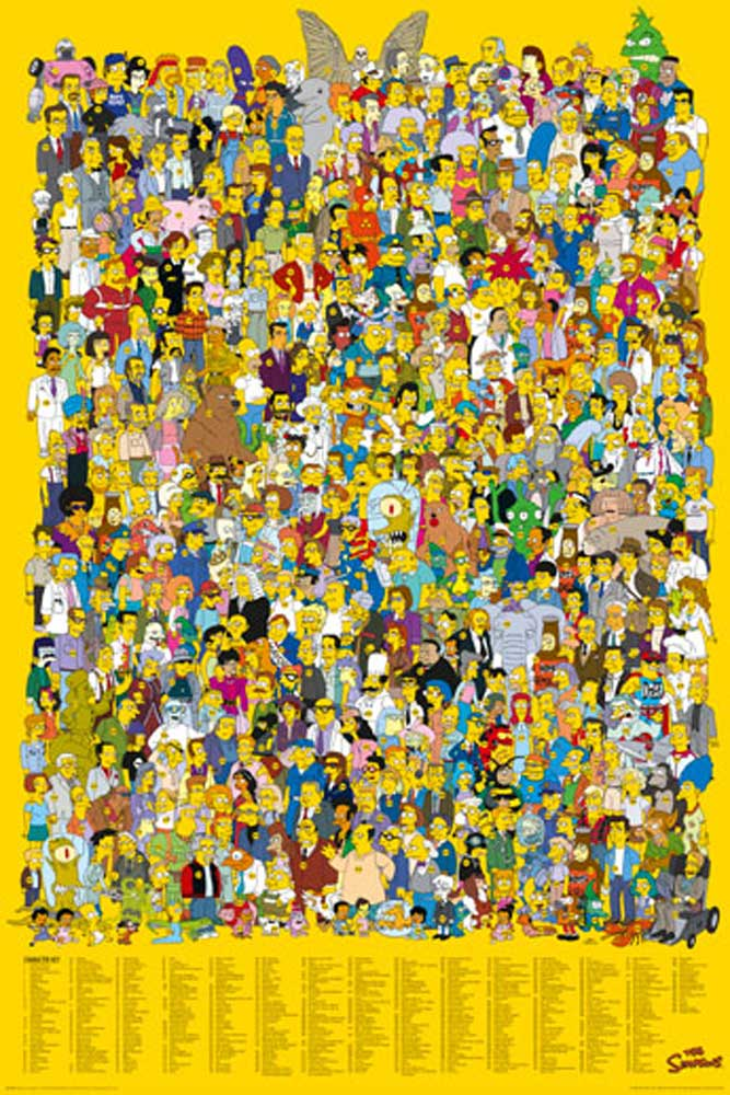 The Simpsons  Character Key  Poster  61x915