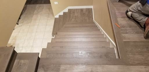 Hardwood Flooring Gives Staircase New Life Empire Today Blog | Installing Engineered Hardwood On Stairs | Laminate Flooring | Carpet | Edge Engineered | Nail Head | Dark Walnut