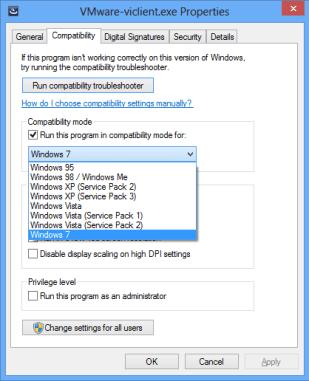 Window2s 7 Compatibility Mode