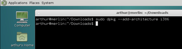 Add i386 architecture to dpkg