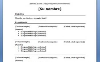 curriculum vitae cronologico inverso plantilla word