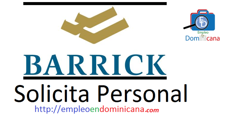 Vacante disponible en Barrick Gold requiere personal
