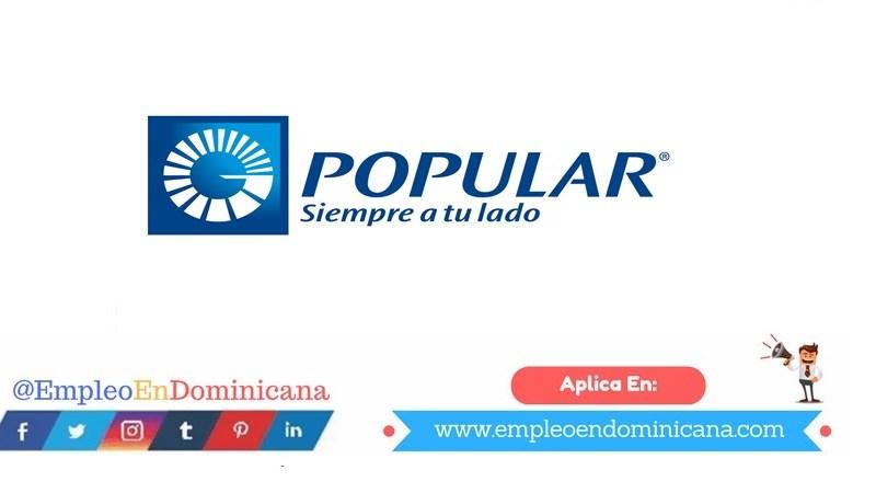 Empleo en banco popular dominicano
