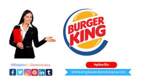 vacante de empleo en burger king