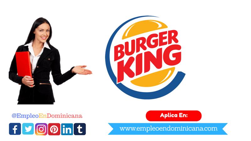 vacante de trabajo en burger king rd