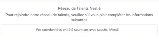 Recrutement Nestlé