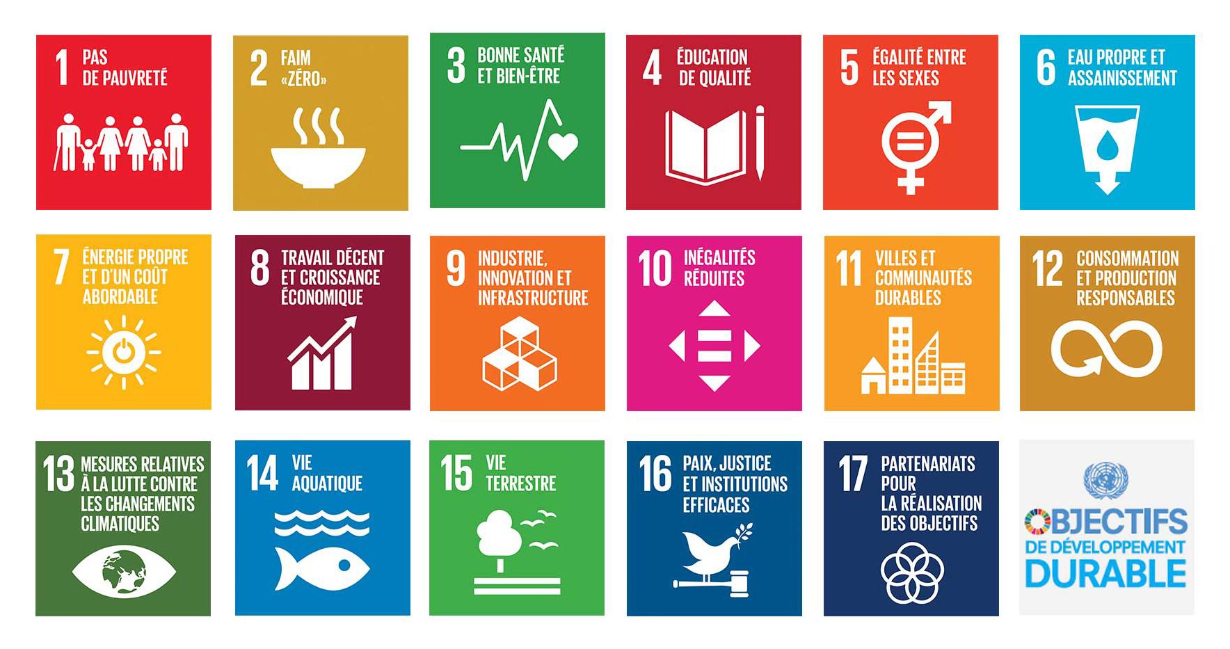 17 objectifs de l'ONU