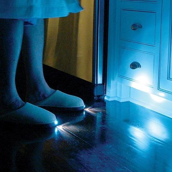 Les pantoufles lumineuses