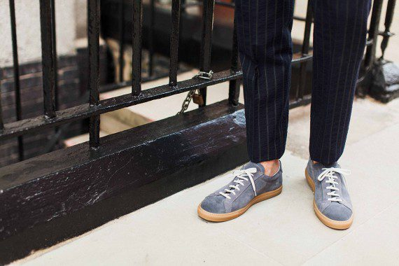 Men's Sneakers with Suit Combination