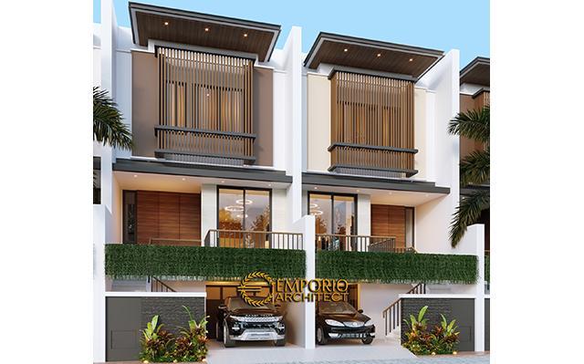 Desain Cluster Modern 3 Lantai Royale Indah Kapuk Cengkareng di  Jakarta Barat
