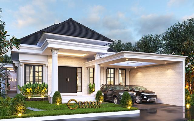Desain Rumah Classic 1 Lantai Bapak Wandaniel di  Sumatera Utara