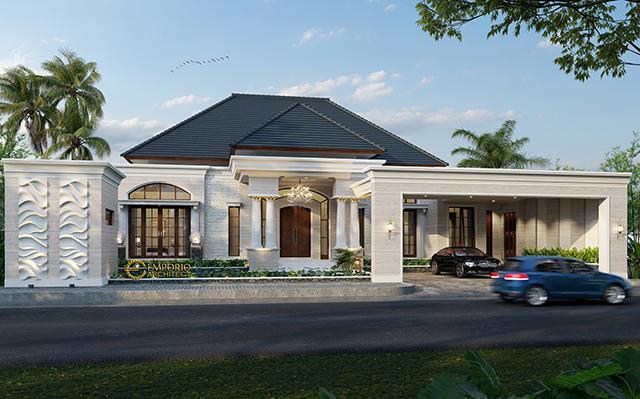 Desain Rumah Classic 1 Lantai Bapak Hendry di  Riau