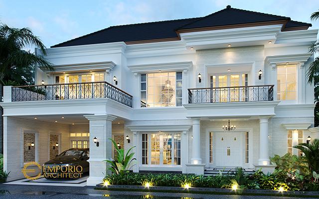 Desain Rumah Classic 2 Lantai Bapak Deni III di  Karawang, Jawa Barat