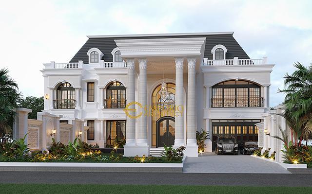 Desain Rumah Classic 2 Lantai Bapak Imam di  Semarang