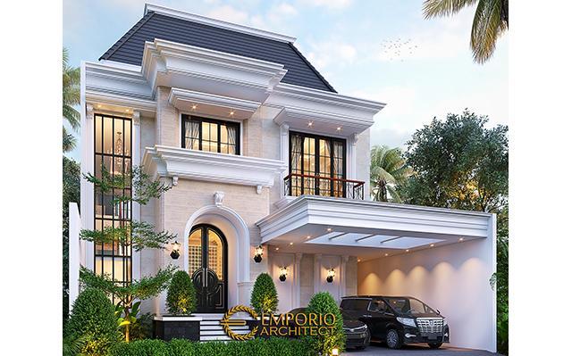 Desain Rumah Klasik 2 Lantai Ibu Inne di  Jakarta