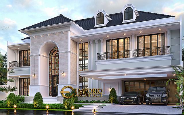 Mr. Martua Sinaga Classic Mediterranean House 2 Floors Design - Jakarta