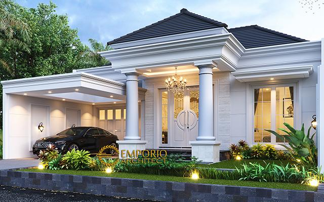 Desain Rumah Klasik Modern 1.5 Lantai Ibu Ayu di  Bogor, Jawa Barat
