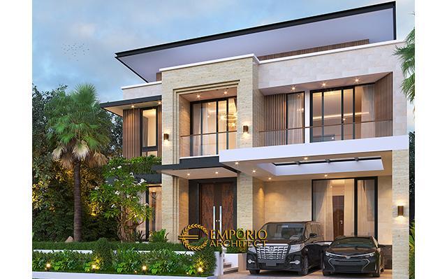 Desain Rumah Modern 2 Lantai Bapak Yan Yeremia di  BSD, Tangerang Selatan, Banten