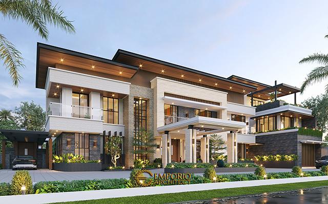 Desain Rumah Modern 3 Lantai Bapak Fernando di  Timor Leste