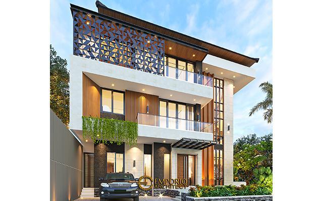 Desain Rumah Modern 3 Lantai Mr. AG di  Jakarta Timur