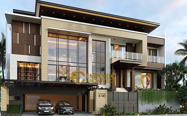 Desain Rumah Modern 3.5 Lantai Bapak V di  Jakarta Timur