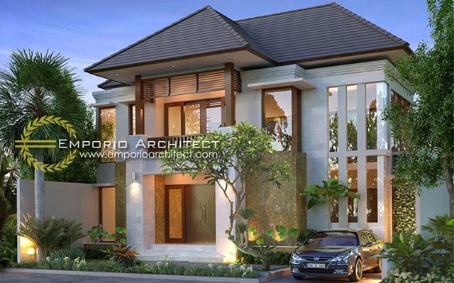 Desain Rumah Villa Bali 2 Lantai Ibu Rhona Yunita di  Jimbaran, Bali