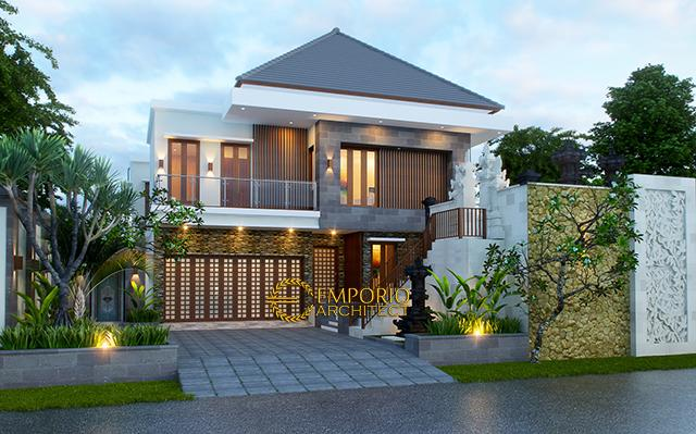 Desain Rumah Villa Bali 2 Lantai Bapak Nyoman Joni di  Denpasar, Bali